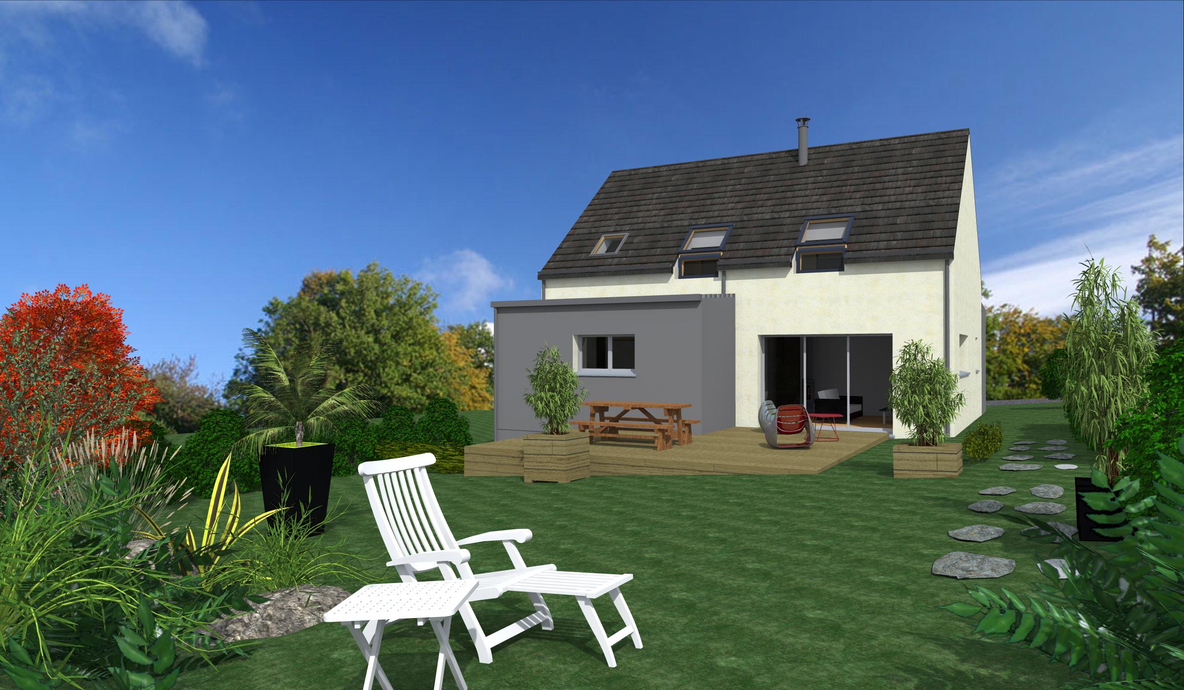 Terrain + Maison 110m² Saint-Pierre-de-Plesguen - Photo 1