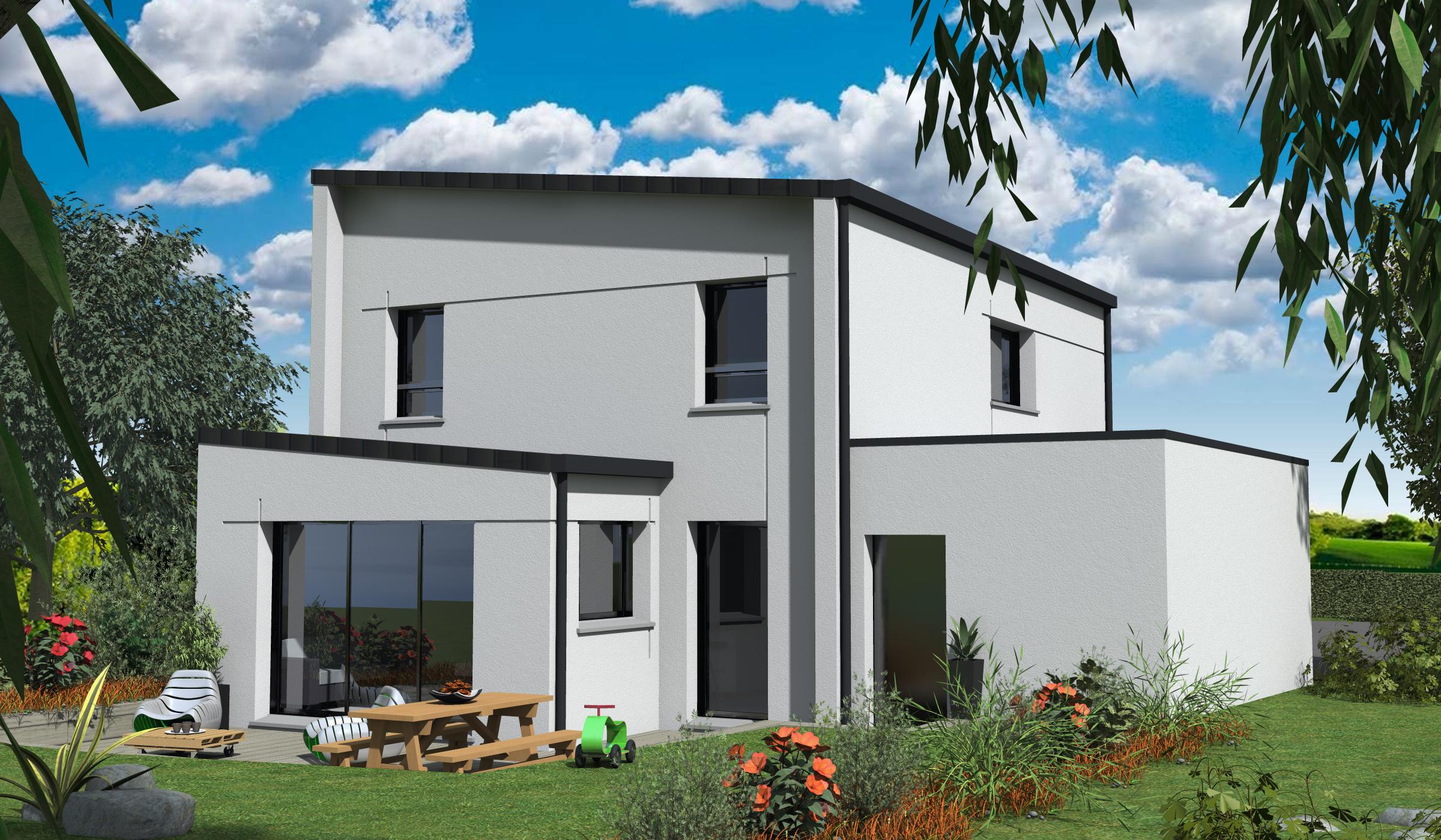 Terrain + Maison 117 m² Erce-Près-Liffré - Photo 1