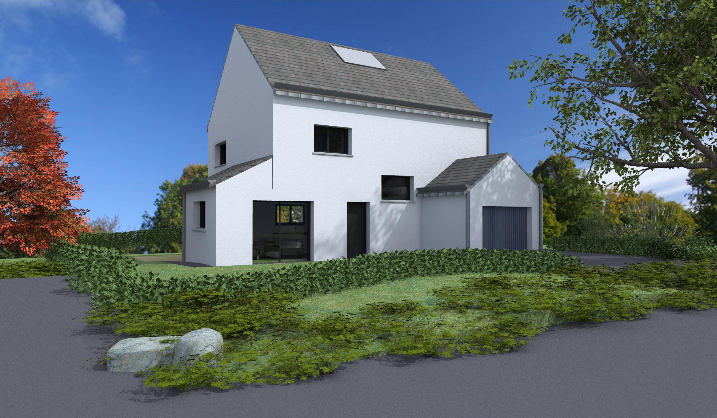 Terrain + Maison 95m² Combourg - Photo 1