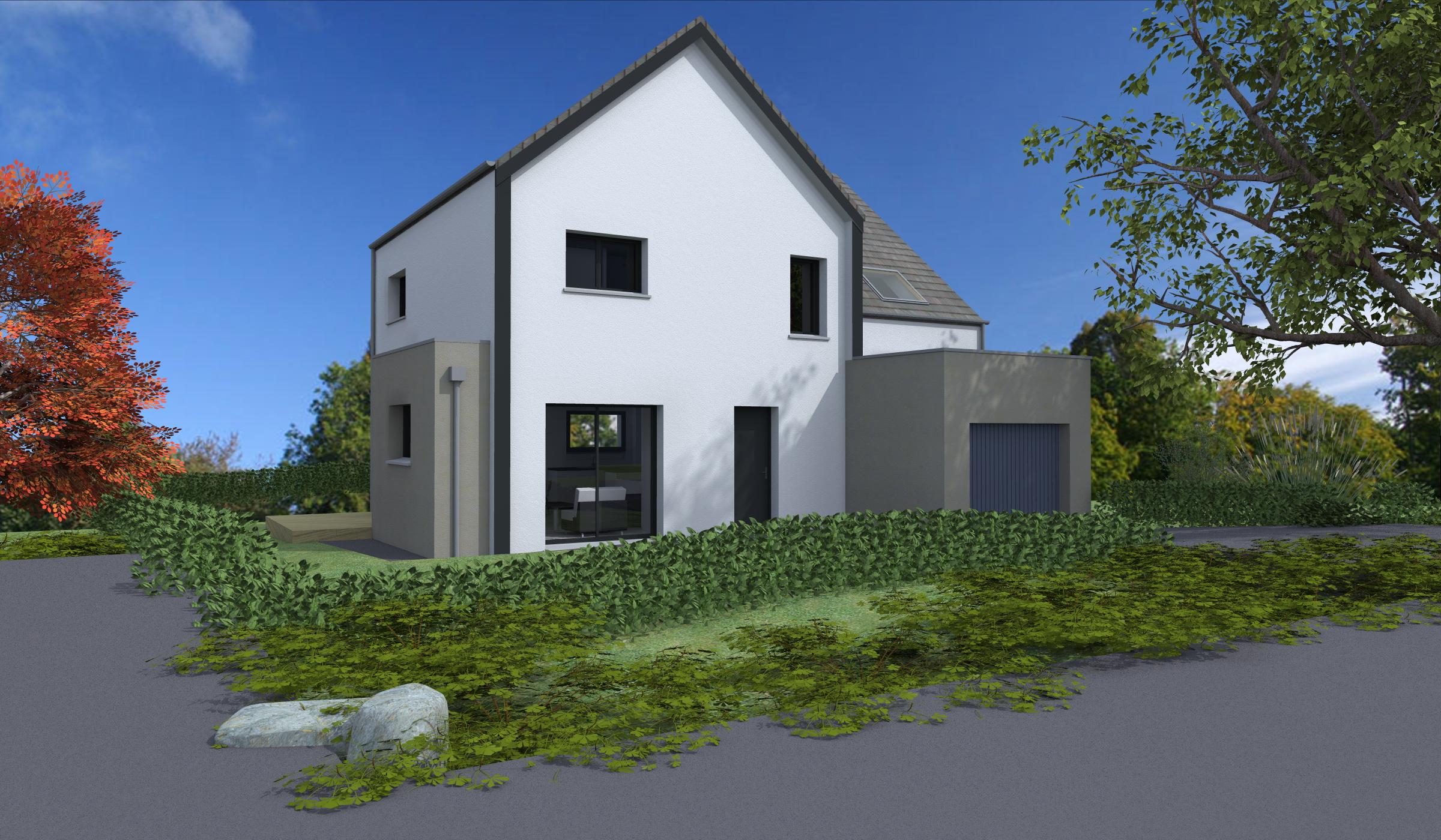 Terrain + Maison 92 m² Combourg - Photo 1