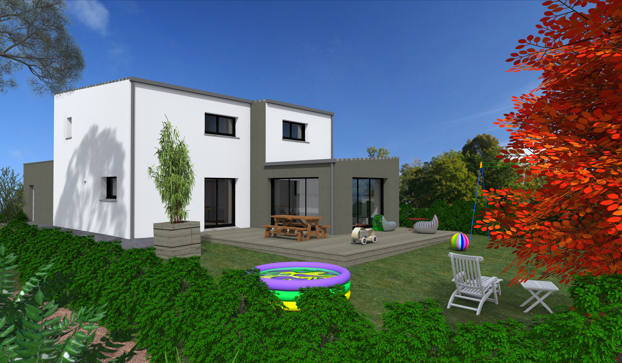 Terrain + Maison 118 m² Liffré - Photo 1
