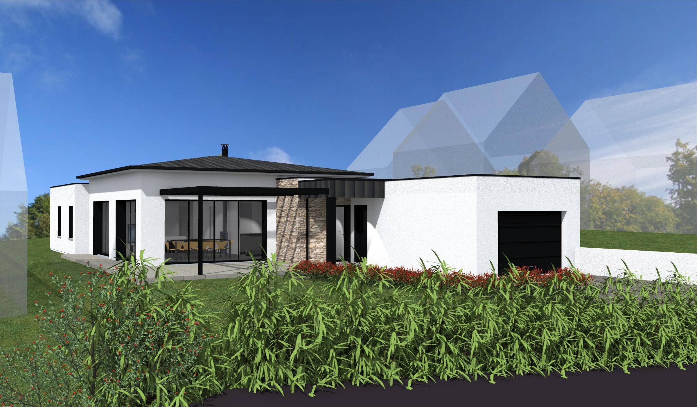 Terrain + Maison de plain-pied 120 m² Le Tronchet - Photo 1