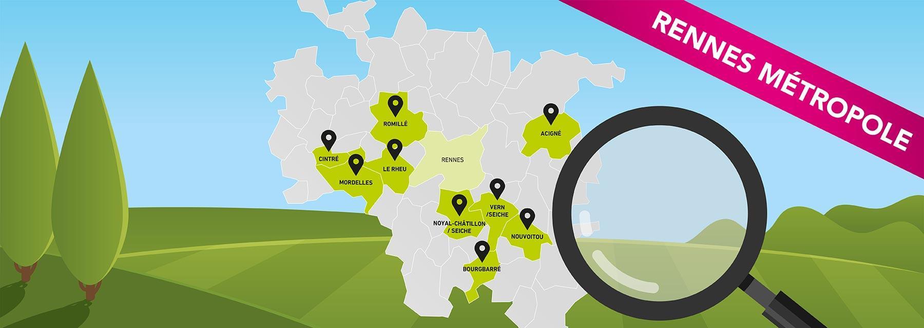 Maisons Création vous propose plus de 60 terrains à bâtir en exclusivité dans Rennes Métropole