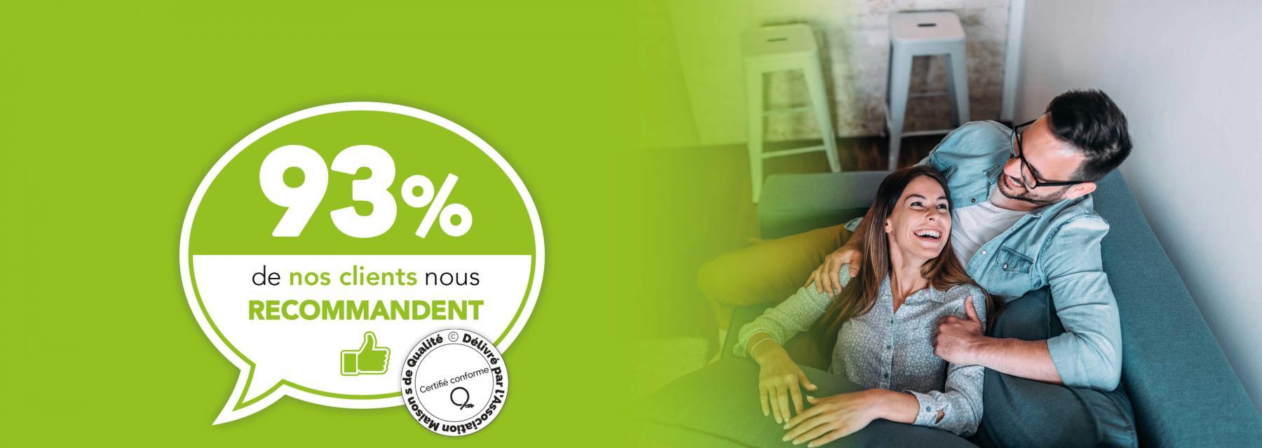 Maisons Création - 93% de nos clients nous recommandent !