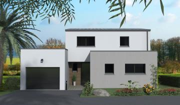 Maison GEVEZE moderne toit plat et bipente