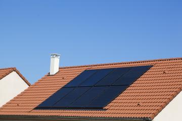 capteurs photovoltaïques sur toiture