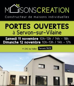 Portes Ouvertes Maisons Création à Servon-sur-Vilaine