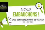 Maisons Création recrute un(e) Conducteur/trice de Travaux à Rennes en CDI
