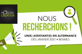 Maisons Création recrute un(e) Assitant(e) Manager en alternance à Rennes
