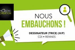 Maisons Création recrute un(e) dessinateur(trice) en CDI à RENNES