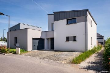 Maison Monopente Zinc Quartz à Domloup
