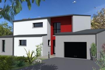 maison monopente zinc