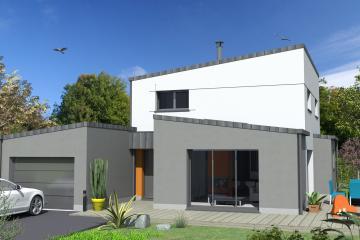Maisons Mono Pente Zinc Modern Contemporaine Design Gris Blanc