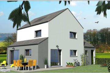 Maisons Bi-Pentes Ardoise Modern Contemporaine Design Gris Blanc