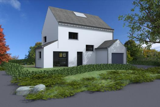 Terrain + Maison 95m² Combourg - Photo