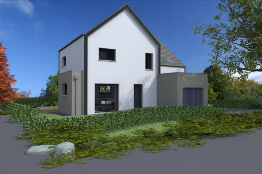 Terrain + Maison 92 m² Combourg - Photo