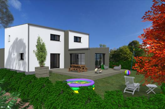 Terrain + Maison 118 m² Liffré - Photo
