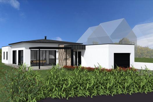 Terrain + Maison de plain-pied 120 m² Le Tronchet - Photo